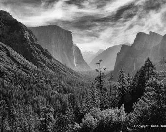Yosemite Photos, National Parks, Hiker Gifts, Mountain Photos,  California Photos- Tunnel View Photos, Modern Photography,