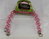 Bright Pink Beaded Purse Handles Acrylic