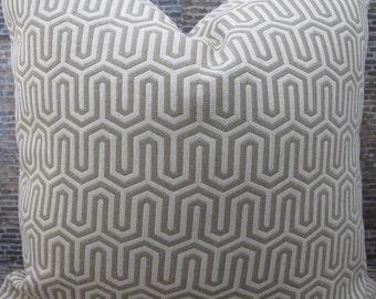 Designer Pillow Cover - 18 x 18- Caramel Flamestitch Jacquard