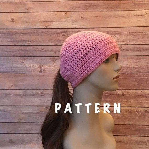 Crochet Hat With Ponytail Hole Pattern Hole Crochet Hat Pattern