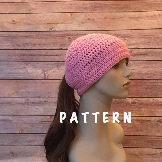 Ponytail Hat Pattern Ponytail Hole Hat