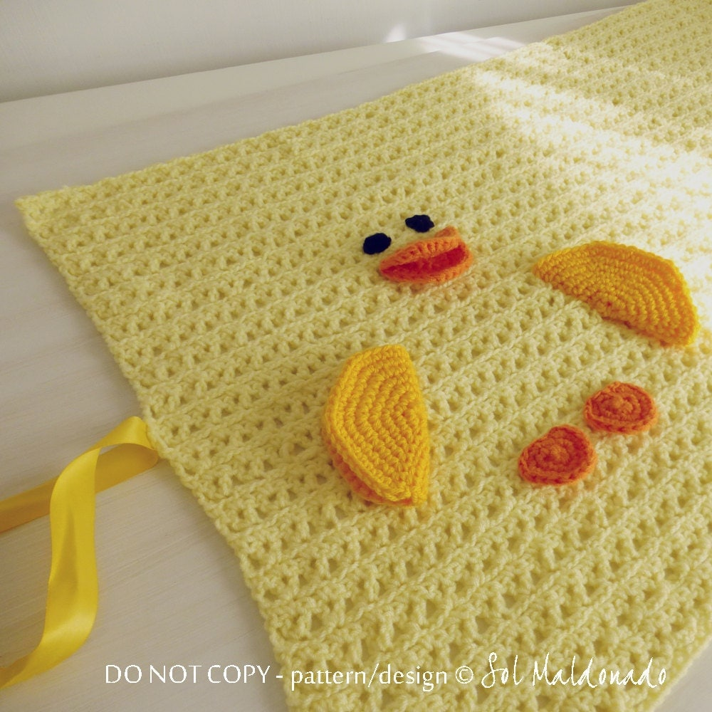 Crochet Pattern Baby Blanket Duck : Baby Blanket pdf crochet pattern duck amigurumi toy and