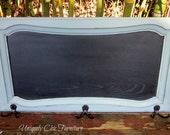 Framed Chalkboard Coat Hanger Organizer