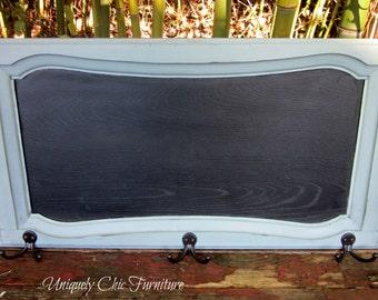 Framed Chalkboard Coat Hanger Organizer Farmhouse Style