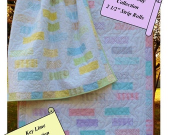 Step Right Up - Jelly Roll Quilt Pattern - Crib To King - Easy!