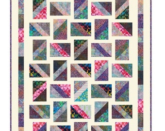 PDF INSTANT DOWNLOAD Quilt Pattern - Baguettes - Made with a new Precut called 6 - Pack Tonga Treats -  Quick & Easy