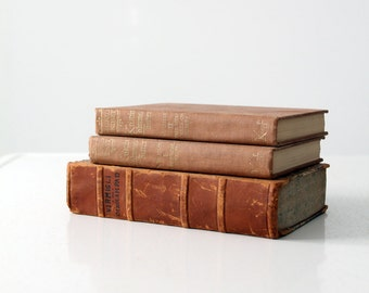 antique book collections, brown books