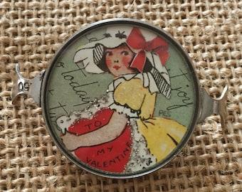 Vintage Handcrafted Valentine Girl Bracelet Piece