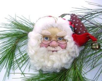 Vintage Christmas Ornament House Of Hatten Santa Claus Holiday Tree Ornaments Denise Calla Enchanted Forest
