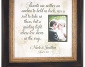 Parents Wedding Gift, Father of the Bride, Mother of the Bride, Parents Are Neither An Anchor To Hold Us Back, Mom and Dad Gift,  16 X 16