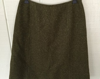 Vintage 60's Pendleton Skirt/ Highwaisted Hipster Skirt
