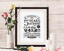 """Personalized Typography anniversary gift with names and date """"I Have Loved You For"""" - 8x10 Digital JPG file - Print at Home"""
