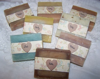 Bridesmaids gifts, neutral colors, handmade soaps, wedding gifts, personalized wedding gift,