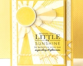 Hand Stamped Greeting Card - Sending Sunshine
