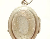 """Reliquary Silver Vintage Open Locket Religious Pendant Jewelry on 18"""" sterling rolo chain"""