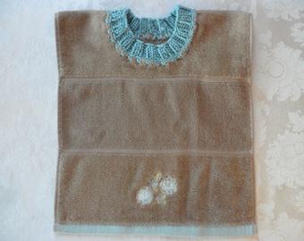 Pullover Baby Bib Towel Bib Flower Towel Bib