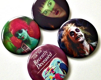 Beetlejuice Beetlejuice Beetlejuice  - Choose a Large Button