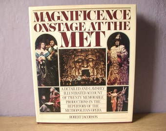 Vintage Magnificence Onstage at the Met book, 1985, large hardcover, Opera book, Italy Germany, Classical music, New York City, wedding gift