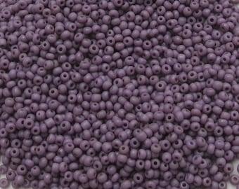 Vintage Seedbeads - Czechoslovakian - Size 15/0 - Opaque Dusty Purple