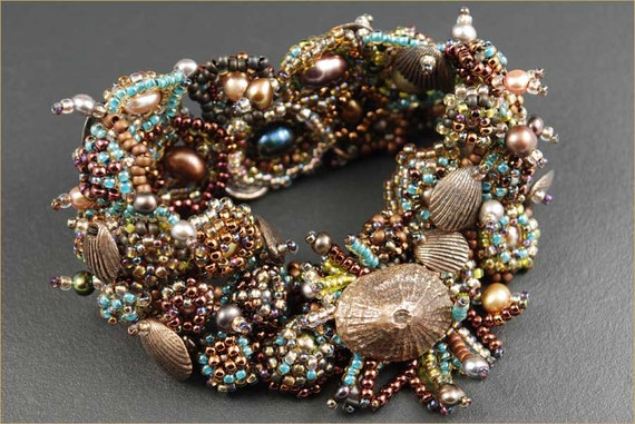 """The """"Tide Pool Cuff"""" - Beading Kit designed by Barbara Briggs"""
