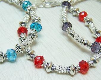 Mothers Birthstone Bracelet, Grandmothers Bracelet, Swarovski Family bracelet