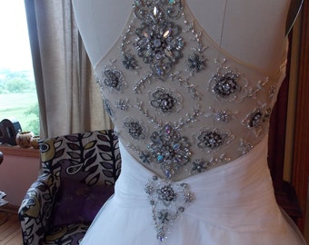 backless beaded wedding ballgown ultimate Cinderella dress