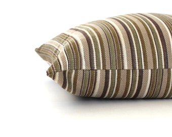 Green Pillow Cover Stripe Upholstery Fabric Decorative Pillow Throw Pillow Cover Cover Euro Sham 26x26 24x24 22x22 20x20 18x18 16x16