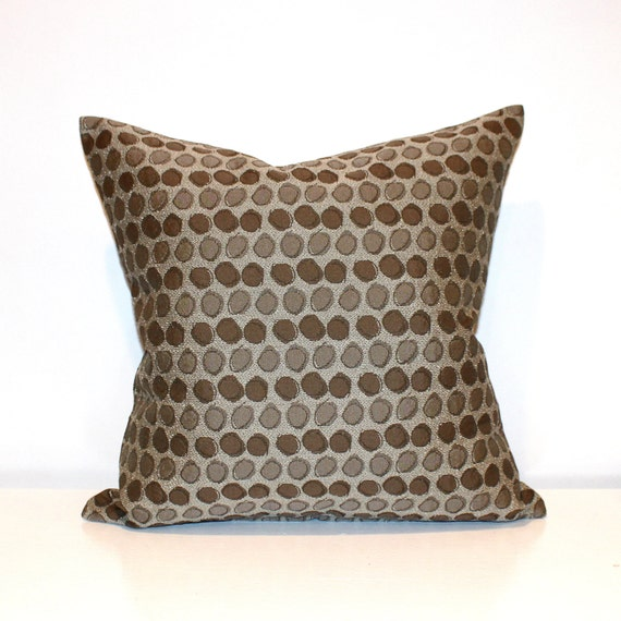 Beige Decorative Throw Pillows : Decorative Brown Beige Modern Circles Throw Pillow Cover Euro