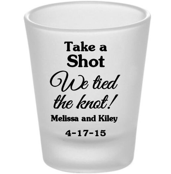 wedding shot glass favors personalized frosted shot glasses custom