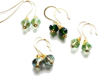 dangle earrings, crystal earrings, hanging earrings, charm earrings