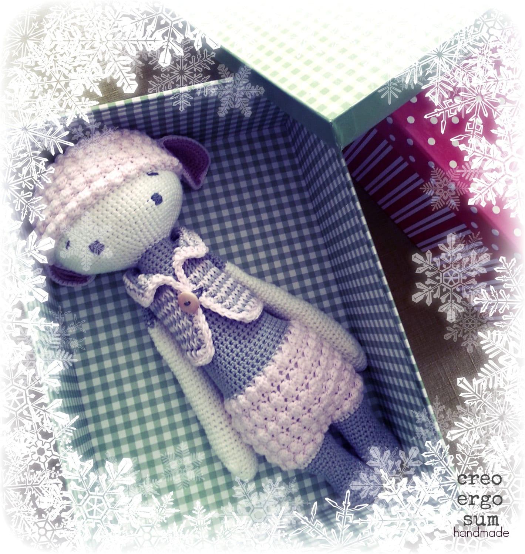 Amigurumi Sheep Doll : Big Amigurumi sheep doll lalylala design inspired Pink bloom