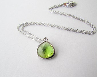 Peridot Green Friendship Necklace
