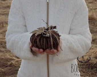 Pumpkin Ring Pillow Grapevine Pumpkin Wedding Ring Holder Ring Bearer Pillow #DownInTheBoondocks