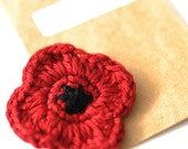 P O P P Y // L I M I T E D // Remembrance Day // Veterans Day // Red Poppy // Poppy Pin // Crochet Poppy