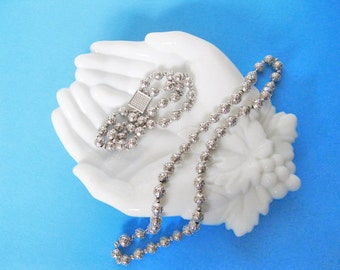 Vendome Necklace and Bracelet Set Silvertone Vintage