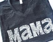 Mama Tee - Women's t-shirt - tee - unisex -tri-blend -  American Apparel