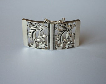 1 Sterling Silver 925 Floral Slider Butterfly clasp with security latch 5-strands