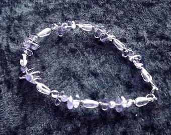 50% OFF Amethyst Gemstone and Sterling Silver Bracelet