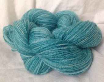 Hand dyed 4-ply wool yarn, TEAL