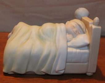 """1984 Family Circus """"Bedtime Tail""""  Music Box Billy Figurine"""