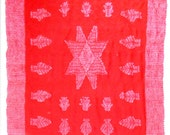 Vintage Blanket Native American Wrap Lone Star Wool AUTHENTIC 1930s