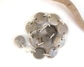 Beach Stone Bracelet Rock Jewelry Pebble Bracelet Mediterranean River Stone Bracelet Natural Stone Silver Gray ARIA