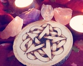 Small Pentacle Wooden Altar Tile