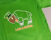 Toddler T-shirt St Patricks Day Leprechaun Buffalo Luck of Buffalo Green and Gold Fun