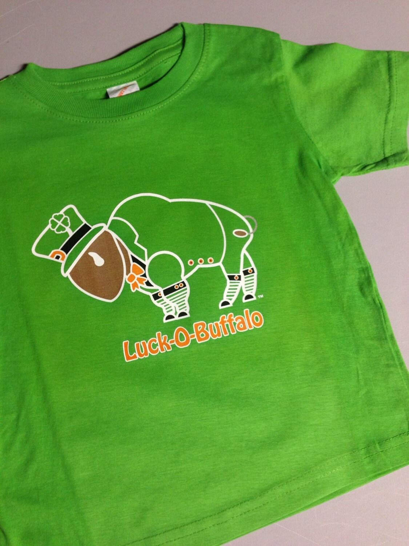 Toddler t shirt st patricks day leprechaun buffalo luck of for Custom t shirts buffalo ny