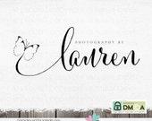 photography logo and watermark -Premade Logo - photography logo design for photographer - butterfly logo design Dandelion Photo logo designs