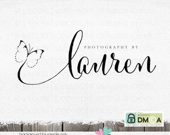 photography logo and watermark -Premade Logo - photography logo design for photographer - butterfly logo design Dandelion Photo logo designs