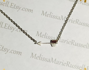Arrow pendant, matte silver necklace, love, anniversary, engagement, handmade jewelry, holiday, Christmas gifts