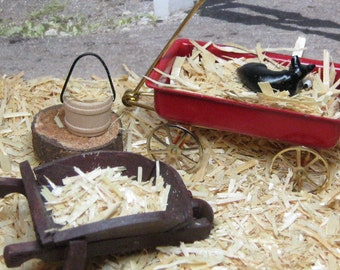 hay loose natural sun bleached straw for miniature crafts nativity autumn harvest fall hayride scarecrow farm western pumpkin patch country