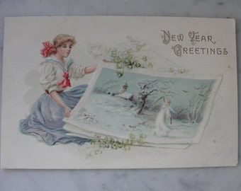Antique Postcards early 1900s New Years